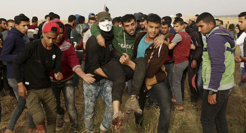 The bare facts about the Gaza demonstrators are correct, but the rest of the story is missing