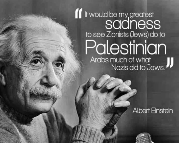 ALBERT EINSTEIN ON PALESTINE AND ZIONISM